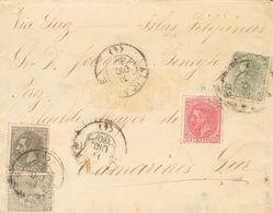 1º Y 2º Centenario. Sobre 201, 202, 204(2) 1880. 5 Cts Verde, 10 Cts Rosa Y 25 Cts Gris. ALBACETE A CAMARINES DEL SUR (F - Spain