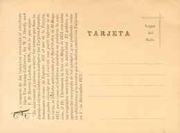 """Entero Postal. Sobre 1913. Tarjeta Postal """"precursora"""" Del Dr. Thebussem, Escrita De Su Puño Y Letra Y Fechada En Medina - Spain"""