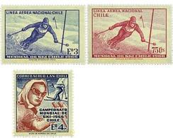 Ref. 27040 * MNH * - CHILE. 1966. WORLD SKI CHAMPIONSHIPS . CAMPEONATOS MUNDIALES DE ESQUI - Sci