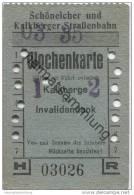 Deutschland - Schöneiche Kalkberge - Schöneicher Und Kalkberger Strassenbahn - Wochenkarte 1935 - Gültig Zur Fahrt Zwisc - Strassenbahnen