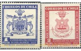 Ref. 144200 * MNH * - CHILE. 1955. INTERNATIONAL PHILATELIC EXHIBITION . EXPOSICION FILATELICA INTERNACIONAL - Chile