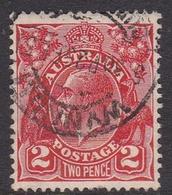 Australia SG 99 1930 King George V,2d Scarlet,Small Multiple Watermark Perf 13.5 X 12.5, Used - 1913-36 George V: Heads