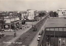 VISERBELLA-RIMINI-LA SPIAGGIA-AUTO CAR-VOITURE(VOLKSWAGEN TRANSPORTER)-CARTOLINA VERA FOTOGRAFIA VIAGGIATA IL 25-7-1968 - Rimini