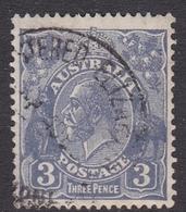 Australia SG 100 1928 King George V,3d Dull Ultramarinet,Small Multiple Watermark Perf 13.5 X 12.5, Used - 1913-36 George V : Têtes