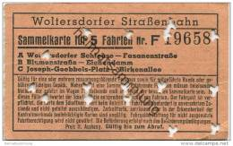 Deutschland - Woltersdorf - Woltersdorfer Strassenbahn - Sammelkarte 5 Fahrten - Fahrkarte - Strassenbahnen