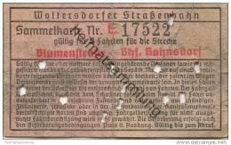 Deutschland - Woltersdorf - Woltersdorfer Strassenbahn - Sammelkarte 5 Fahrten - Blumenstrasse Bahnhof Rahnsdorf - Strassenbahnen