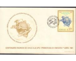 Ref. 583509 * MNH * - CHILE. 1981. CENTENARIO INGRESO DE CHILE A LA UPU - Chile