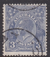 Australia SG 100a 1929 King George V,3d Deep Ultramarinet,Small Multiple Watermark Perf 13.5 X 12.5, Used - 1913-36 George V : Têtes