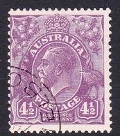 Australia SG 103 1928 King George V,4.5d Violett,Small Multiple Watermark Perf 13.5 X 12.5, Used - 1913-36 George V: Heads
