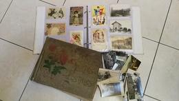 A Etudier Sérieusement !! Lot De 2 Album Et Vrac 485 CPA Au Total Toutes Scannées  - Départ 20 Centimes Pièce / Paris - Postcards