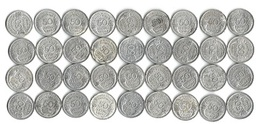 Lot De 36 Pièces De Monnaie 50 Centimes Morlon Aluminium  1941 à 1947 - France