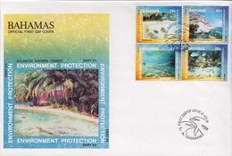 Bahamas Set On FDC - Marine Life