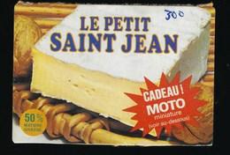 """Etiquette Fromage  Le Petit Saint Jean """"cadeau Moto Miniature"""" 50%mg - Cheese"""