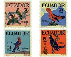 Ref. 33408 * MNH * - ECUADOR. 1958. TROPICAL BIRDS . PAJAROS TROPICALES - Ecuador