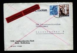 A5557) DDR Express-Brief Barth 1954 N. Lauchhammer - DDR
