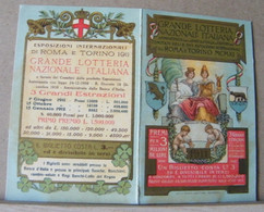 MONDOSORPRESA, CALENDARIETTO, CALENDARIO, ESPOSIZIONE INTERNAZIONALE TORINO 1911, LOTTERIA NAZIONALE ITALIANA - Calendari