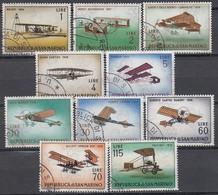 SAN MARINO 1962 - MiNr: 719-728 Komplett Used - Flugzeuge