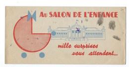 BUVARD PUBLICITAIRE Dépliant  AU SALON DE L'ENFANCE  Grands Magasin REAUMUR Dim : 22cm/22cm Déplié RARE - Enfants