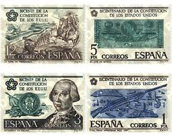 Ref. 84969 * MNH * - SPAIN. 1976. BICENTENARY OF UNITED STATES CONSTITUTION . BICENTENARIO DE LA CONSTITUCION DE LOS EST - Militaria