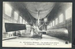 """+++ CPA - Avion - Aviation - Aérostation Militaire - Nacelle Et Hélices Du Dirigeable """"Ville De Paris"""" - Ballon  // - Dirigeables"""