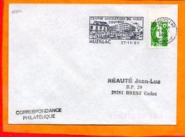 MORBIHAN, Muzillac, Flamme SCOTEM N° 11312, Centre Animation Du Vieux Couvent - Marcophilie (Lettres)