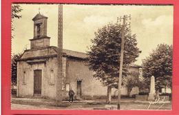 CAZAUX 1939 EGLISE MONUMENT AUX MORTS FACTEUR ? CARTE EN BON ETAT - Frankreich