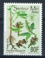 "French Polynesia, ""Miri"", Plant, Basil (Ocimum Basilicum), 2018, MNH VF - French Polynesia"