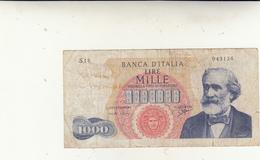 Lire Mille Banca D'Italia G. Verdi - [ 2] 1946-… : Républic