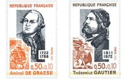 Ref. 122535 * MNH * - FRANCE. 1972. FAMOUS PEOPLE . PERSONAJES CELEBRES - Ships