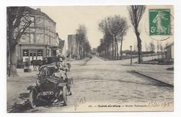 04  -  Saint Gratien  -  Route Nationale  -  Café  Au Rond Point De La Gare  -  Automobile - France