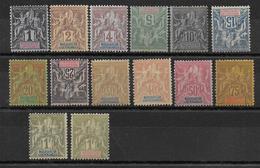 MADAGASCAR - YVERT N°28/41 * CHARNIERE LEGERE (3 TIMBRES RETOURNES SONT SANS GOMME) - COTE = 178 EUR. - Madagascar (1889-1960)
