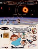 TARJETA TELEFONICA DE ARUBA. SETAR-109C, TOTAL SOLAR ECLIPSE 09.98 (022) - Aruba