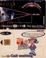 TARJETA TELEFONICA DE ARUBA. SETAR-110C, TOTAL SOLAR ECLIPSE 09.98 (035) - Aruba