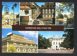 Polonia. Warszawa *Varsovio Salutas Vin* Edit. K.A.W. Circulada, Sello Defectuoso. - Polonia
