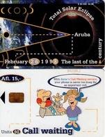 TARJETA TELEFONICA DE ARUBA. SETAR-110A, TOTAL SOLAR ECLIPSE 04.98 (036) - Aruba