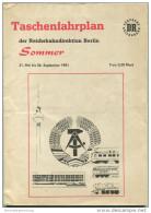 Taschenfahrplan Der Reichsbahndirektion Berlin Sommer 1981 Original Ausgabe - Europa