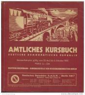 Amtliches Kursbuch - Deutsche Demokratische Republik Sommerfahrplan 1951 Mit Übersichtskarte Und 2. Nachtrag Zum Amtlich - Europa