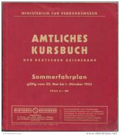 Amtliches Kursbuch - Der Deutschen Reichsbahn Sommerfahrplan 1955 Mit Übersichtskarte - Ministerium Für Verkehrswesen - - Europe