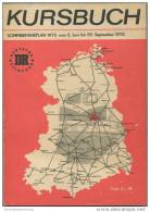 Kursbuch Der Deutschen Reichsbahn - Sommerfahrplan 1973 Mit Übersichtskarte Und Lesezeichen - Fahrpläne Des Binnenverkeh - Europa