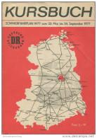 Kursbuch Der Deutschen Reichsbahn - Sommerfahrplan 1977 Mit Übersichtskarte Und Lesezeichen - Binnenverkehr - Ministeriu - Europe
