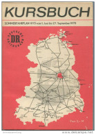 Kursbuch Der Deutschen Reichsbahn - Sommerfahrplan 1975 Mit Übersichtskarte Und Lesezeichen - Binnenverkehr - Ministeriu - Europa