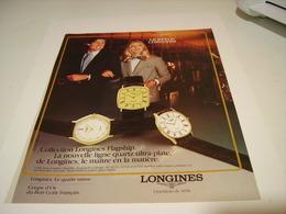 PUBLICITE AFFICHE MONTRE LONGINES  LE STYLE  1982 - Autres
