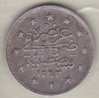 Turquie , 2 Kurush AH 1293 Year 33 Abdul Hamid II, En Argent ,KM# 736 - Turquie