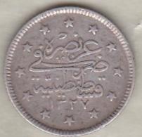 Turquie , 2 Kurush AH 1327 Year 2  Muhammad V, En Argent ,KM# 749 - Turquie