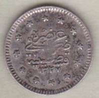 Turquie , 1 Kurush AH 1327 Year 2  Muhammad V, En Argent ,KM# 748 - Turquie