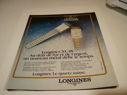 PUBLICITE AFFICHE MONTRE LONGINES  XL 1981 - Autres