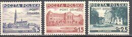 Poland Port Gdansk 1937 - Mi.29-31 - MNH (**) - Postfrisch - 1919-1939 Republik