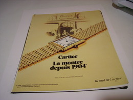 ANCIENNE PUBLICITE  MONTRE CARTIER 1983 - Bijoux & Horlogerie
