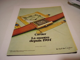 ANCIENNE PUBLICITE  MONTRE CARTIER 1983 - Autres