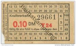 Deutschland - Berlin - DDR Kraftverkehr - Fahrschein 0.10DM - U-Bahn